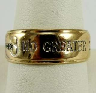 14K Gold Ring Christian Wedding Band Diamond Cross Dove