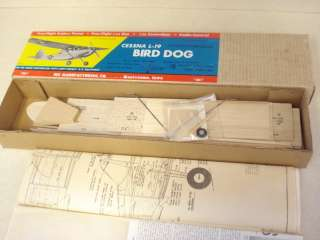 OLD SIG CESSNA L 19 BIRD DOG F/F C/L R/C MODEL AIRPLANE KIT