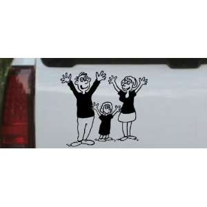 Black 10in X 8.7in    Mom Dad Daughter Family Decal Stick