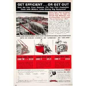 Hog Pig Pen Pork Farro Crate Meat   Original Print Ad: Home & Kitchen