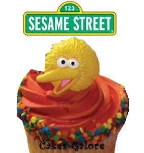 Sesame Street Big Bird 3D Face Cake Cupcake Ring Decoration Toppers