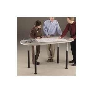 Periscope Project Team Table, 60 x 36, Nebula Gray Office