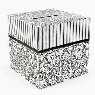 Black and White Wedding Card Box 12 x 12 887600914537