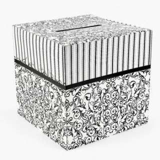 Black and White Wedding Card Box 12 x 12 887600914537