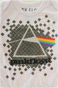 PINK FLOYD Dark Side of the Moon Cover Logo Newborn Baby Infant Onesie