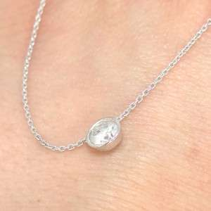 50 ct 14k White Gold Round Cut Real Diamond Solitaire Pendant