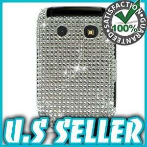 NEW SILVER BLING HARD CASE FOR BLACKBERRY STYLE 9670 PROTECTOR SNAP ON