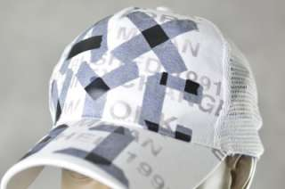 NEW Armani Exchange Mens Hats A/X White Taped Logo Baseball Cap Hat