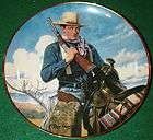 John Wayne Spirit of the West Collectors Plate by Franklin Mint