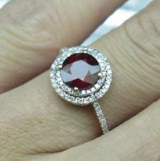 Solid 14K Gold Natural Blood Ruby & Diamond Ring $2,700