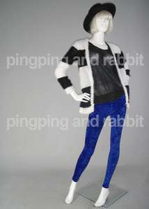 Crushed Velvet Lush Blue Navy Spandex Leggings Pants Tights Winter