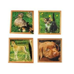 com Oversized Baby Animal Wooden Puzzles   Farm Animal Toys & Games