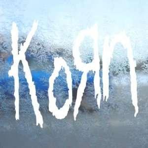 Korn White Decal Metal Rock Band Car Window Laptop White