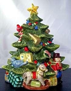 Tree Lidded Box Ceramic Handpainted Kaldun & Bogle New