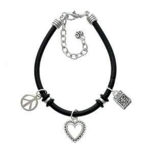 Prayer Box Black Peace Love Charm Bracelet [Jewelry