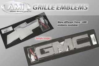 Grille Emblem Black BowTie Chevrolet Bow Tie w/Border 2 pc. Front And