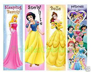 BOOKMARK Disney PRINCESS Snow White Belle Party Favor