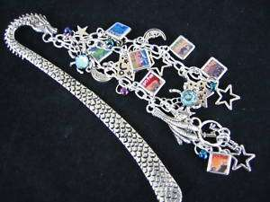 HARRY POTTER WITH BRACELET STYLE CHARMS ALL SEVEN BOOK COVERS