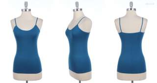 Seamless Solid Plain Spaghetti Strap Tank Top Cami Camisole VARIOUS