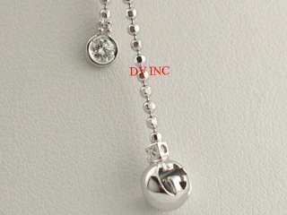 LADIES GUCCI WHITE GOLD DIAMOND BOULE CHAIN NECKLACE