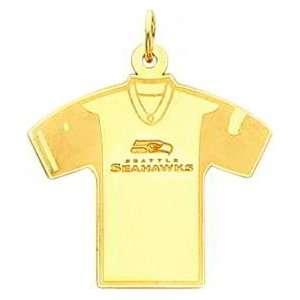 14K Gold NFL Seattle Seahawks Football Jersey Charm