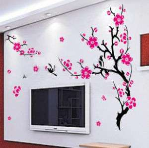 Art Decor Plum Flower & Swallow Wall Stickers Vinyl 342