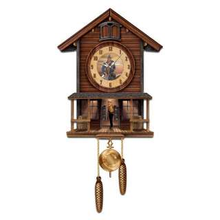 John Wayne American Icon Collectible Cuckoo Clock