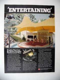 Helios Tension Products Busch Gardens Williamsburg 1979 print Ad