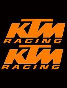 KTM RACING DECAL STICKER MOTORCYCLE MX MOTOCROSS SX QUAD ATV SUPERMOTO