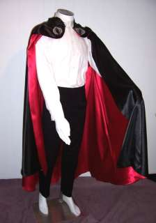 Cobra Commander Costume Cape Black Red Satin Comic Book Hero