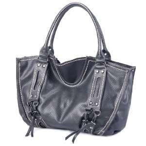 LSQ00711BK Black Deyce Urban PU Women Bucket Bag Beauty