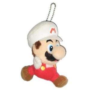 Nintendo Super Mario Bros. Fire Mario Plush Keychain Toys & Games