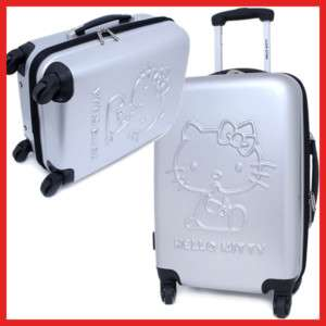 Sanrio Hello Kitty Trolley Bag Luggage Emblems Gray 24