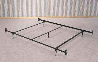Queen Size Metal Bed Frame for Headboard and Footboard with center