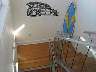 Vinyl Wall Decal Sticker Classic Car Beach Cruiser