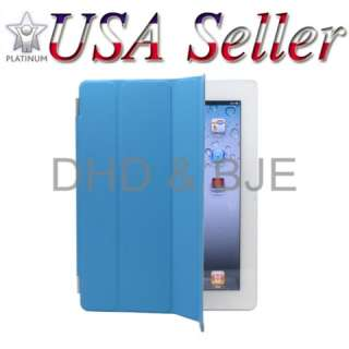 iPad 2 Smart Cover PU Leather Magnetic Case Stand Wake Up Sleep Light