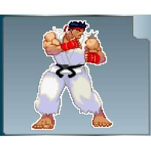 RYU sprite from Street Fighter vinyl decal sticker #2 6