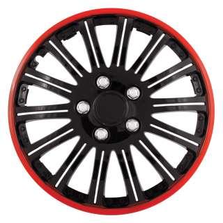 Pilot Cobra Black/Red 16 Wheel Cover Set Wh527 16Re Bx