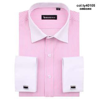 iron French classic cufflinks vertical stripes men dress shirt ty401a