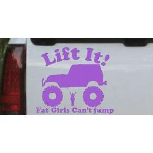 Fat Girls Cant Jump Jeep Off Road Car Window Wall Laptop Decal Sticker