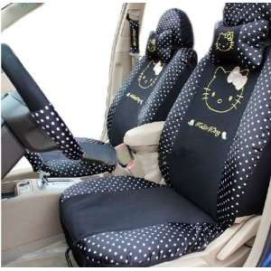 Cool2day Kitty Auto Car Neckrest Front Back Saddle Seat Cover 10pcs