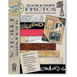 16 Papers Black & White Photos Heritage Scrapbooking Arts
