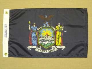 New York State Nylon Outdoor Flag 12 X 18