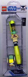 Star Wars Yoda Lego Ballpoint Pen MOC 2008 NEW MINT