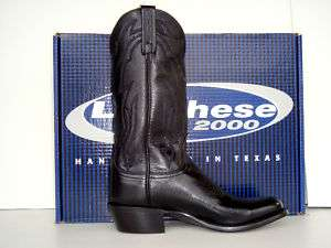 Lucchese 2000 Mens Black Lone Star Calf Cowboy Boots