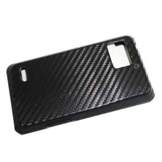 BIONIC/XT875 Hard Snap on FABRIC Case Carbon Fiber Look Black