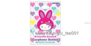 Hello Kitty in Bunny Earphone Cord Wire Holder Clip  Pi