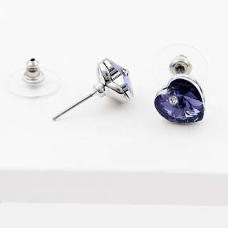 Crystal and Platinum Plating Earring Stud Jewelry