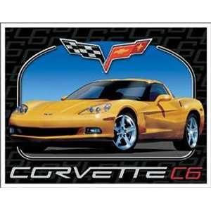 Chevrolet Chevy Corvette C6 Tin Sign