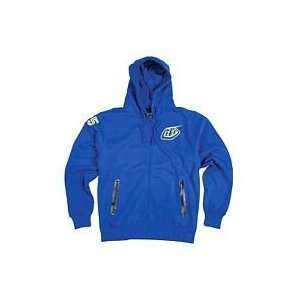 TROY LEE DESIGNS INDY FLEECE ZIP HOODY (MEDIUM) (BLUE